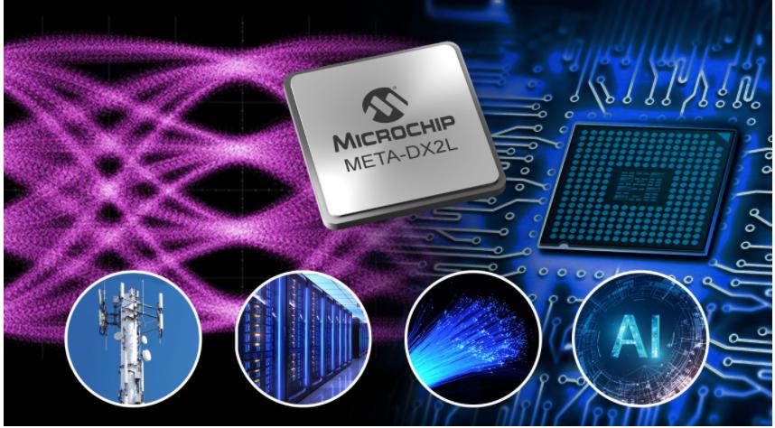 Microchip推出业界最紧凑的1.6T以太网PHY可为云数据中心、5G和AI提供高达800 GbE的连接性