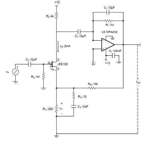 使用分立式 JFET 放大低噪声电路中的小信号