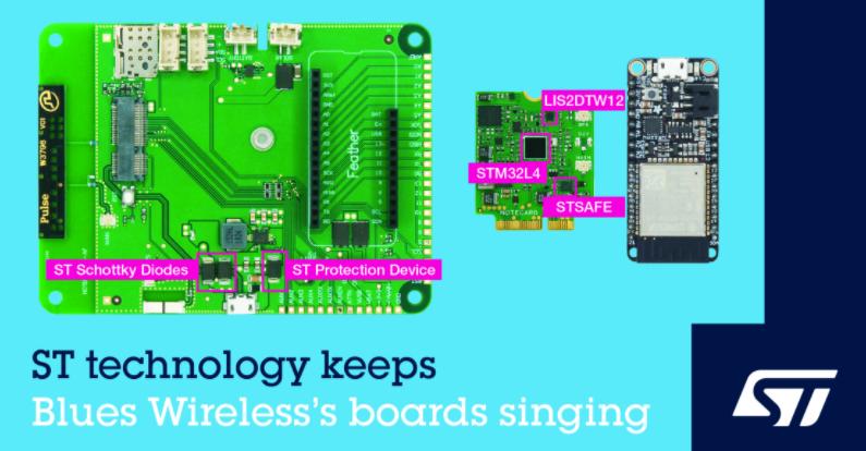 意法半導體和 Blues Wireless 合作加快嵌入式蜂窩技術的應用