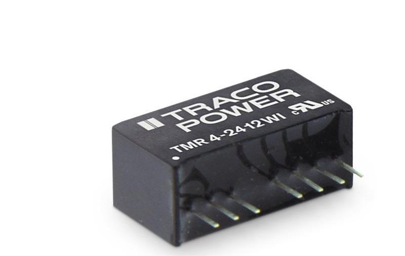 TMR 4(WI) 系列 — 工业用紧凑型 4 瓦 DC/DC 转换器 (SIP-8)