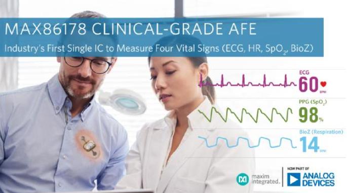 ADI公司推出臨床級四項生命體征AFE,適用于遠程病人監測設備