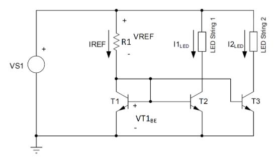 运算放大器增强汽车 LED灯串电流平衡