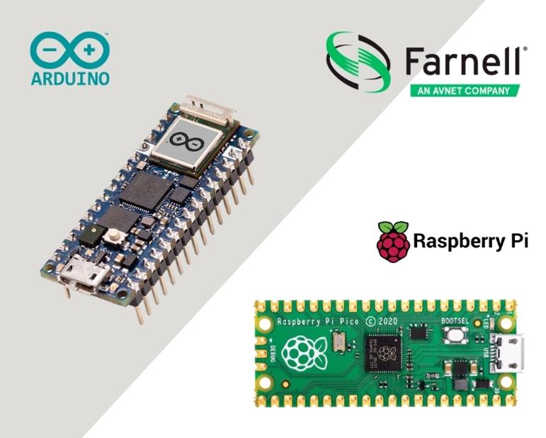 e络盟现货发售Arduino Nano RP2040 Connect和Raspberry Pi Pico