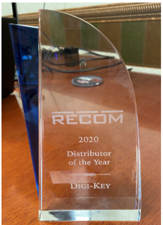 Digi-Key Electronics 獲評 RECOM Power 年度最佳分銷商