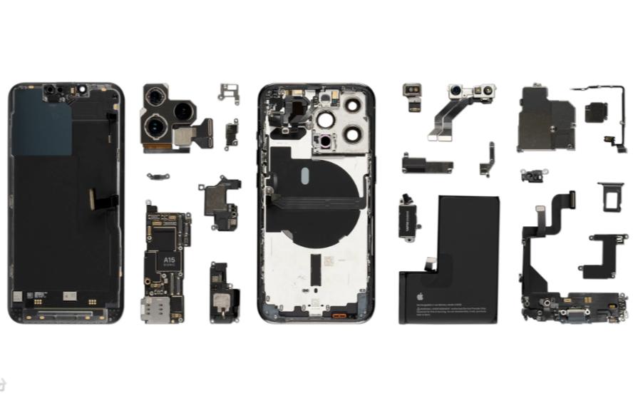 iPhone 13 Pro首拆!苹果高调展示A15;核心元器件供应商揭露