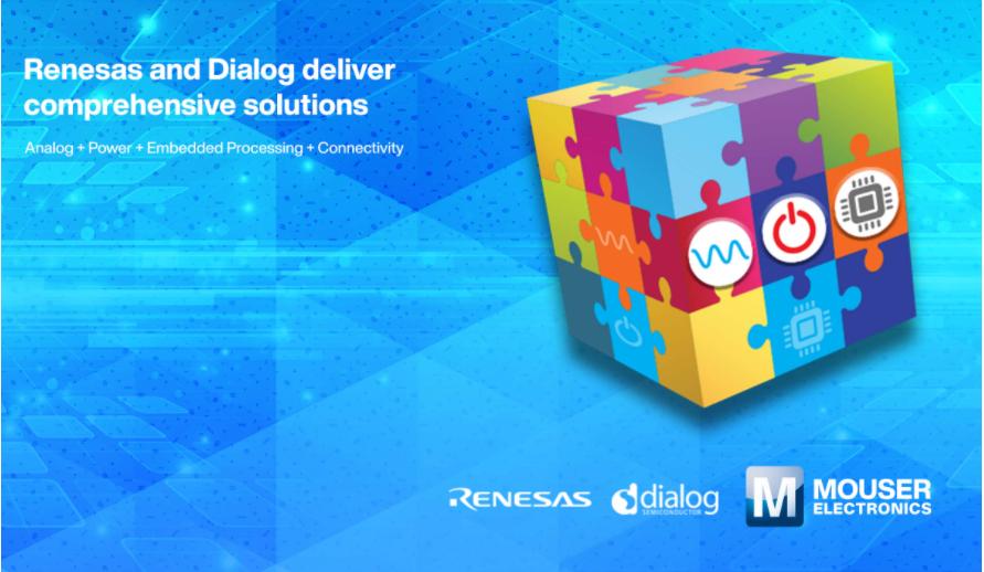 贸泽电子提供Renesas和Dialog联手打造的解决方案