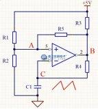 实用且相对简单的VF三角波发生电路