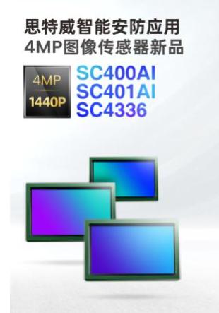 思特威推出4MP全系列升级图像传感器新品SC400AI/SC401AI/SC4336
