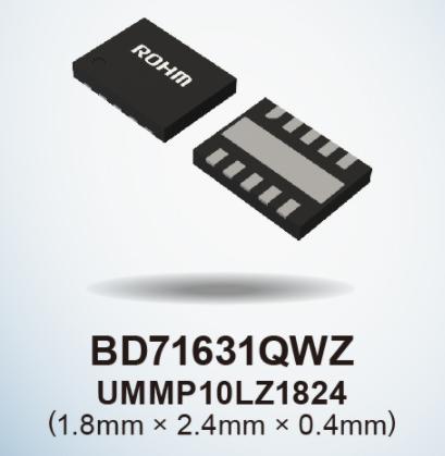 "ROHM开发出充电控制IC""BD71631QWZ"",支持新型二次电池等低电压充电"