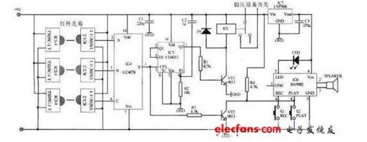 嵌入式电路图怎么看(红外安全保护装置电路/GPIO和门电路/复位电路)