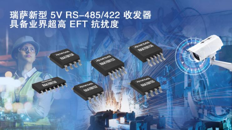 瑞萨电子推出具备业界超高EFT抗扰度的5V RS-485/422收发器产品家族
