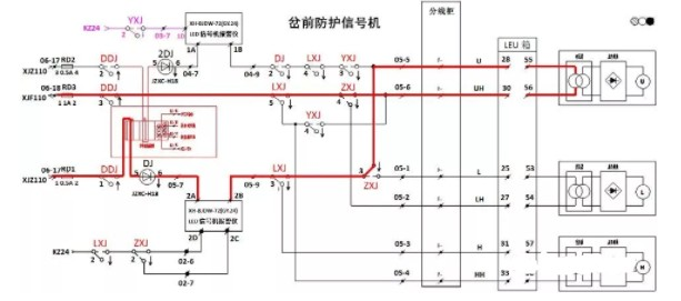 信号机电路图讲解和实物图(黄灯点灯电路/出站信号机点灯/进站信号机点灯电路)