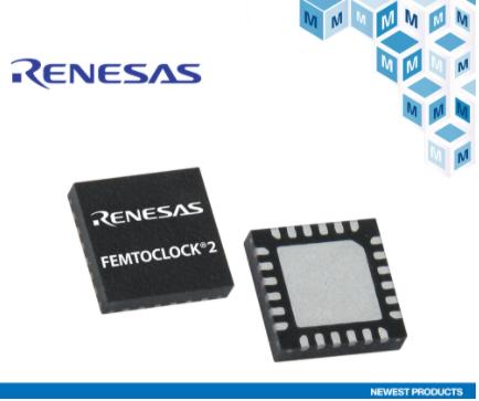 贸泽开售适用于可编程光纤模块的 Renesas高性能FemtoClock2合成器