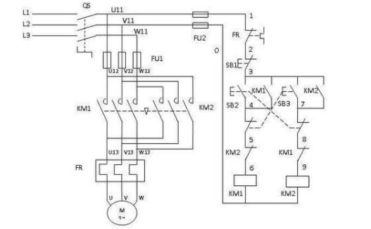 电机控制电路实物接线图(接触器控制电机正反转电路/双重连锁可逆控制电路/电磁抱闸制动控制电路)