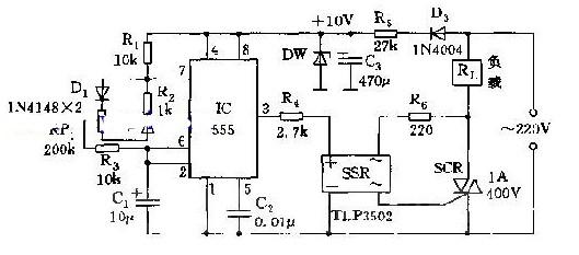 调功电路原理(555调功电路/TDA2040汽车音响功放/调频发射机高频功放电路)