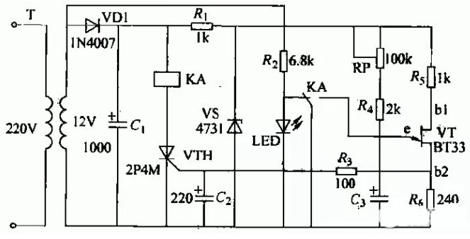 继电器与开关电路分析(JS20单结晶体管时间继电器电路/发射极跟随器继电器开关电路/音频信号控制继电器开