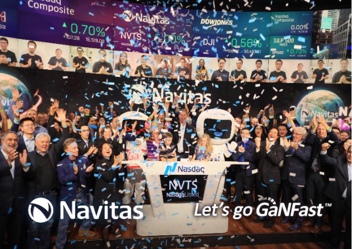 纳微半导体正式登陆纳斯达克,以股票代码NVTS上市交易