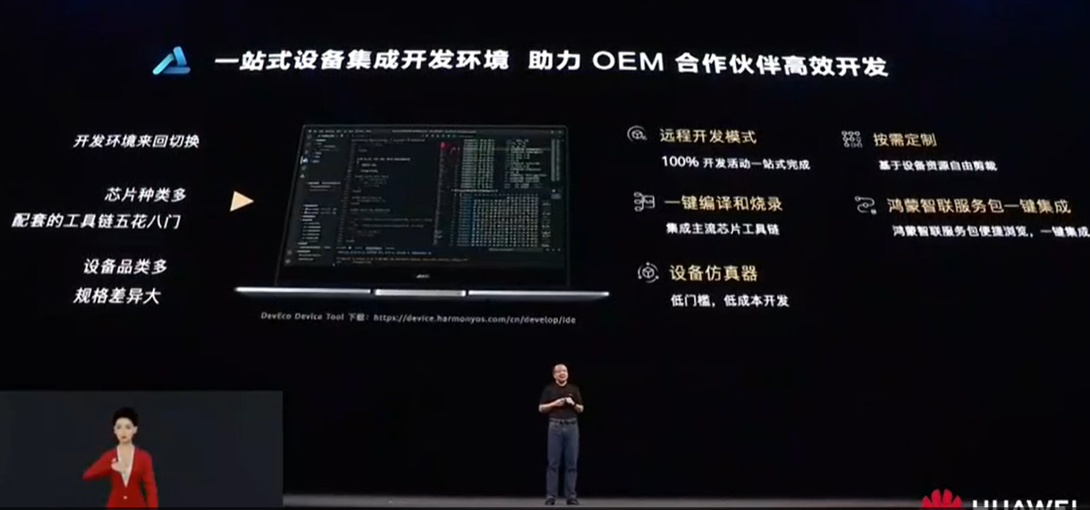 华为开发者大会2021:一站式设备集成开发环境