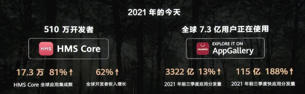 华为开发者大会2021年 全球开发者收入增长62%