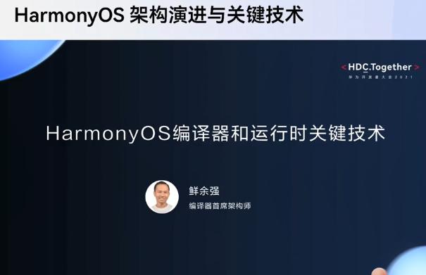 华为开发者大会2021年 HarmonyOS架构演进与关键技术分论坛亮点