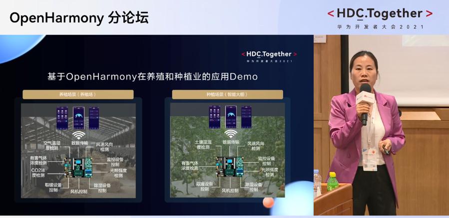 2021华为开发者大会OpenHarmony分论坛:HarmonyOS帮助软通动力发力智慧农业