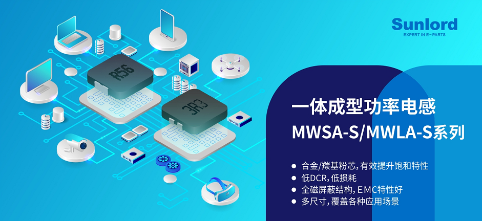 一体成型功率电感MWSA-S/MWLA-S新品发布